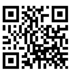 qr code scan isolated on white background vector image