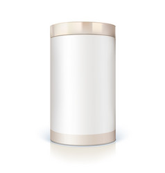 Round tin of packaging for bulk products vector