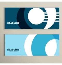 Set pattern with abstract circle banner vector