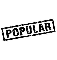 square grunge black popular stamp vector image vector image