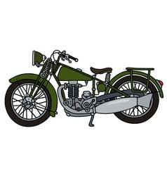Vintage green motorcycle vector