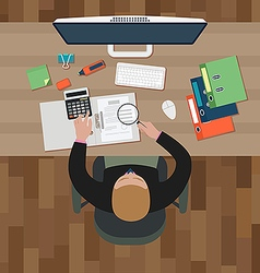 Workplace of an office man vector image vector image