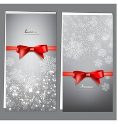 Elegant Christmas Invitation Cards Template vector image