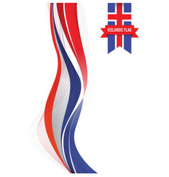 Iceland flag background vector