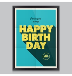 Happy birthday poster card vector
