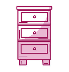 Wood drawer isolated icon vector
