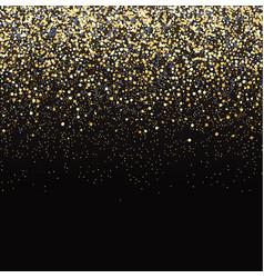 gold glitter black background vector image