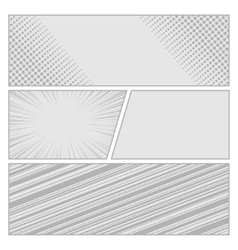 Comics pop art style blank layout template with vector