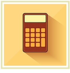 Classic finance accounting calculator flat icon vector