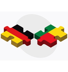 Germany and benin flags vector