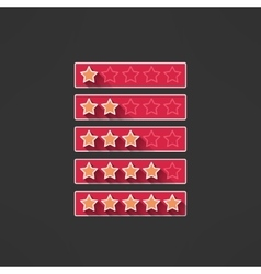 Five stars rating design elements in modern vector