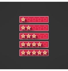 Five stars rating design elements in modern vector