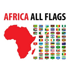 Africa all flags vector