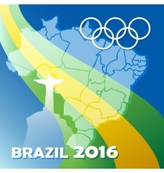 Brazil olympic games poster vector