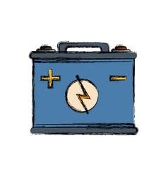 Car battery icon vector