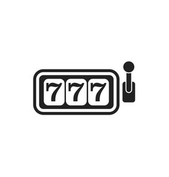 Casino slot machine flat icon 777 jackpot vector