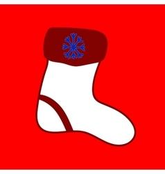 Christmas sock Seamless christmas pattern vector image