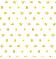 christmas stars golden decoration seamless pattern vector image