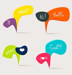 Colorful questions speech bubbles vector image vector image