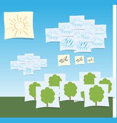 decorative landscape eps 10 vector image vector image
