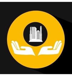 Environment friendly city concept vector