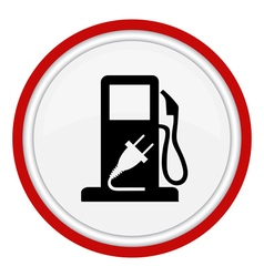 fuel web icon vector image