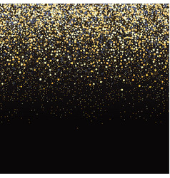 gold glitter black background vector image