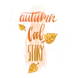 hand drawn abstract autumn vector image