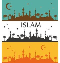 Islam banner muslim culture vector