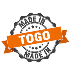 Made in togo round seal vector