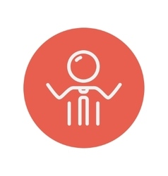 Man thin line icon vector image vector image