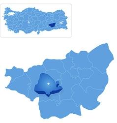 Map of diyarbakir - kayapinar is pulled out vector