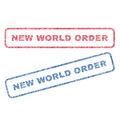 new world order textile stamps vector image