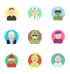 Occupation icons set flat style vector