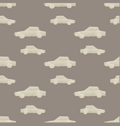 origami logistic paper car transport seamless vector image