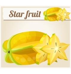 Star fruit Carambola Cartoon icon vector image vector image