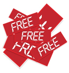 stickers with text free vector image vector image