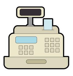 supermarket cash machine icon vector image