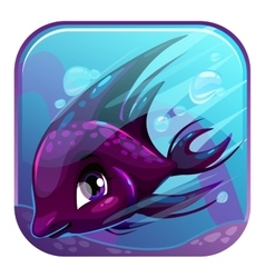 Swimming black fish vector image vector image