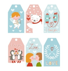 Valentines day girft tags vector