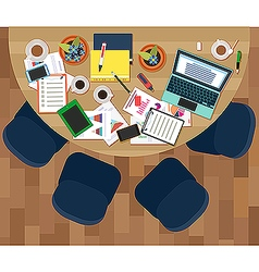 Workplace of business meeting vector image