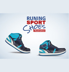 running sport shoes vector image