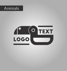 Black and white style icon bird logo vector