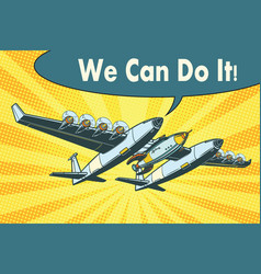 airplane to send rockets into space we can do it vector image