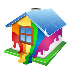 Home painting design vector