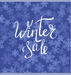 Winter sale typographic poster vector