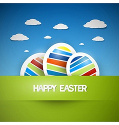 Three colorful easter eggs vector