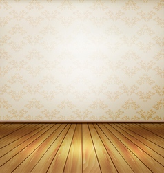 Background with old wall and a wooden floor vector image