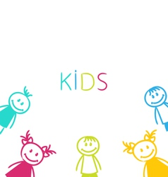 Hand-drawn cute funny kids vector
