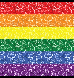 Gay pride flag with a seamless tiled pattern in it vector